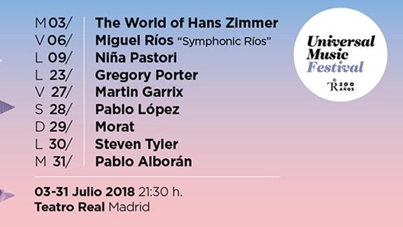 Presentado el Universal Music Festival 2018 en el Teatro Real de Madrid