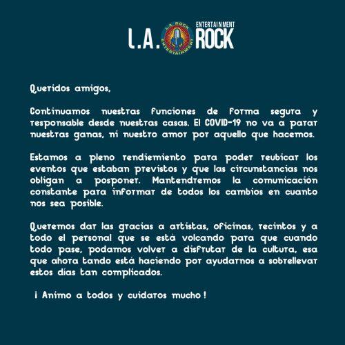 LA ROCK COVID